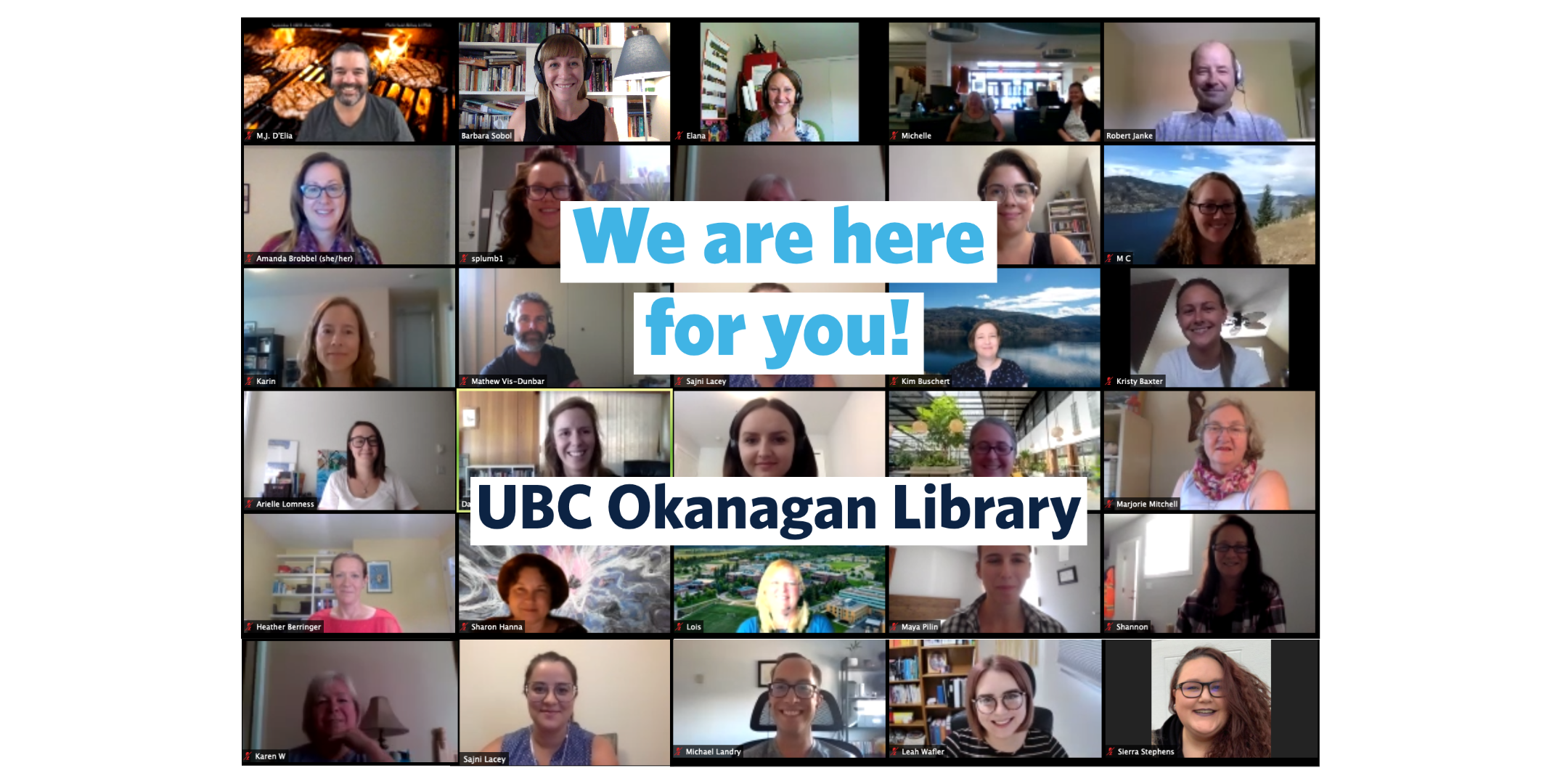 We are here for you! UBC Okanagan Library.